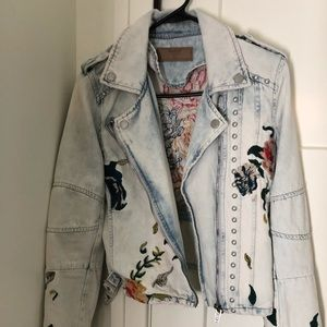 NWOT BLANK NYC embroidered denim jacket